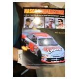 2 BOOKS - NASCAR SUPER STAR (SMALL RIP ON COVER)