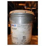 5 GAL PAIL OF MOBIL SHC-220 (CRACK IN LID)