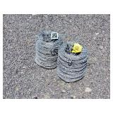 2 Rolls of Barbless wire
