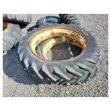 2- Rear Tractor Tires and Rims