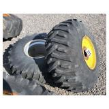 2 - Rear Tractor Tires and Rims