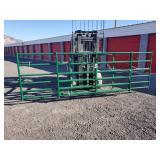 2- 8ft, 1- 14ft Square Corner Green Gates