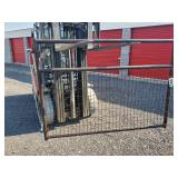 6ft Brown Wire Filled Gate