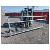 2- 12ft Galvanized Wire Filled Gates (some damage)