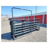 13-12ft gray panels and 1-12ft walk through gate