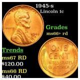 1945-s Lincoln 1c Grades GEM++ RD