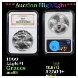 *Highlight* 1989 Eagle $1 Graded ms69
