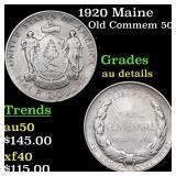 1920 Maine Old Commem 50c Grades AU Details
