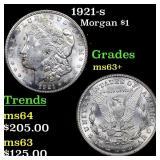 1921-s Morgan $1 Grades Select+ Unc
