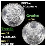 1885-o Morgan $1 Grades GEM++ Unc