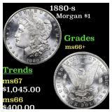 1880-s Morgan $1 Grades GEM++ Unc