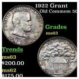 1922 Grant Old Commem 50c Grades Select Unc
