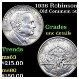 1936 Robinson Old Commem 50c Grades Unc Details