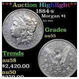 *Highlight* 1884-s Morgan $1 Grades Choice AU