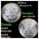 1878-s Morgan $1 Grades Unc Details
