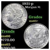 1921-p Morgan $1 Grades GEM+ Unc
