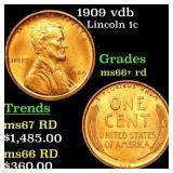 1909 vdb Lincoln 1c Grades GEM++ RD