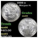 1898-o Morgan $1 Grades GEM+ Unc