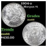 1904-o Morgan $1 Grades GEM+ Unc