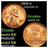 1931-s Lincoln 1c Grades Choice Unc RD
