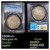 1900-o Morgan $1 Graded ms64