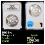 1904-o Morgan $1 Graded ms63