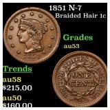 1851 N-7 Braided Hair 1c Grades Select AU