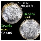1888-o Morgan $1 Grades Choice Unc