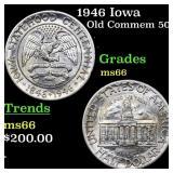1946 Iowa Old Commem 50c Grades GEM+ Unc