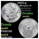 1902-p Morgan $1 Grades Choice+ Unc