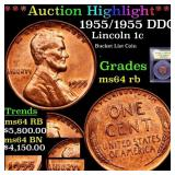 *Highlight* 1955/1955 DDO Lincoln 1c Graded Choice