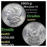 1903-p Morgan $1 Grades Choice+ Unc