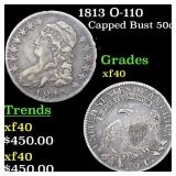 1813 O-110 Capped Bust 50c Grades xf