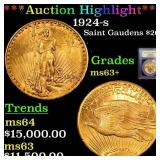 *Highlight* 1924-s St. Gaudens $20 Graded Select+