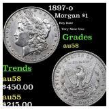1897-o Morgan $1 Grades Choice AU/BU Slider