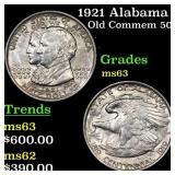 1921 Alabama Old Commem 50c Grades Select Unc