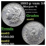 1892-p vam 3A I3 R5 Morgan $1 Grades Select Unc