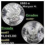 1881-s Morgan $1 Grades GEM++ Unc