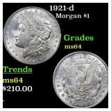 1921-d Morgan $1 Grades Choice Unc