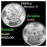 1884-o Morgan $1 Grades GEM+ Unc
