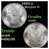 1885-o Morgan $1 Grades GEM+ Unc