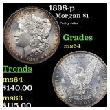 1898-p Morgan $1 Grades Choice Unc