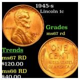 1945-s Lincoln 1c Grades GEM++ Unc RD