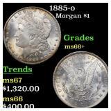 1885-o Morgan $1 Graded ms66+