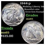 1944-p Walking Liberty 50c Grades GEM Unc