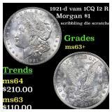1921-d vam 1CQ I2 R5 Morgan $1 Grades Select+ Unc