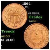 1864 2c Grades Choice AU/BU Slider