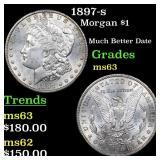 1897-s Morgan $1 Grades Select Unc
