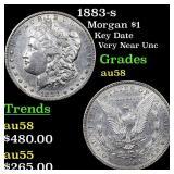 1883-s Morgan $1 Grades Choice AU/BU Slider
