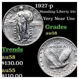 1927-p Standing Liberty 25c Grades Choice AU/BU Sl
